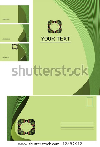 background, business card, letter - stock vector