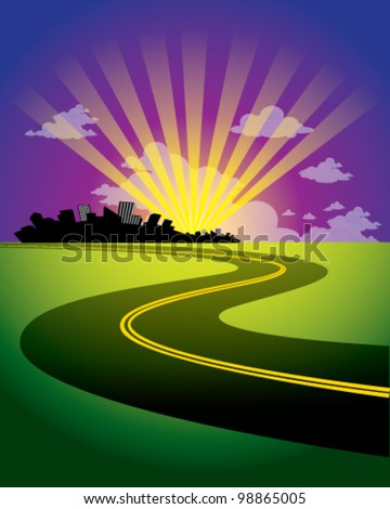 Background City - stock vector