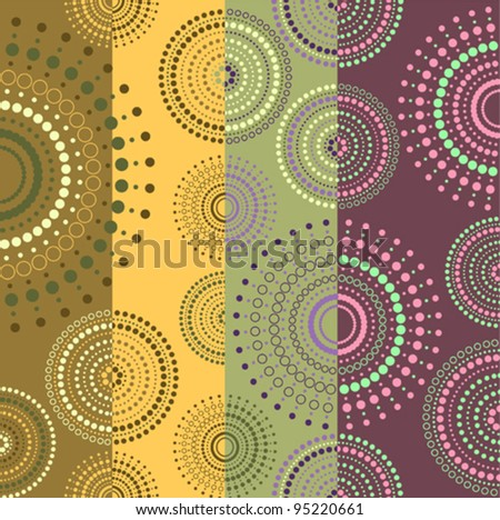 Background colored with circles - stock vector