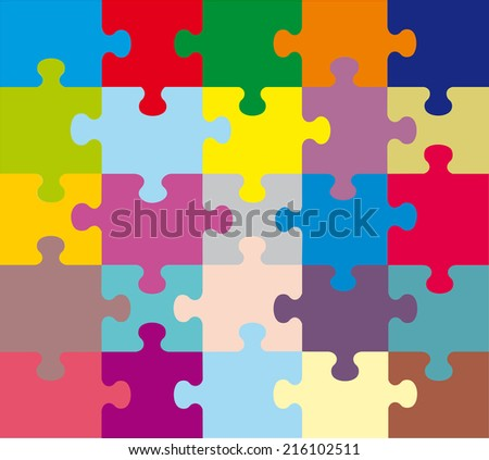 background colorful puzzles