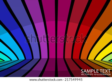 Background colorful vector illustration reflected - Colorful striped abstract background  template - stock vector