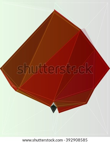 background colorful vector origami shape abstract element
