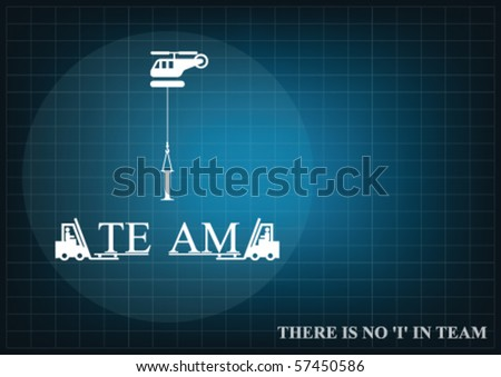 Background concept with a teamwork theme with copy space for own text - stock vector