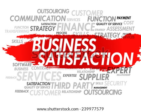 Background concept word cloud vector illustration of business satisfaction - stock vector