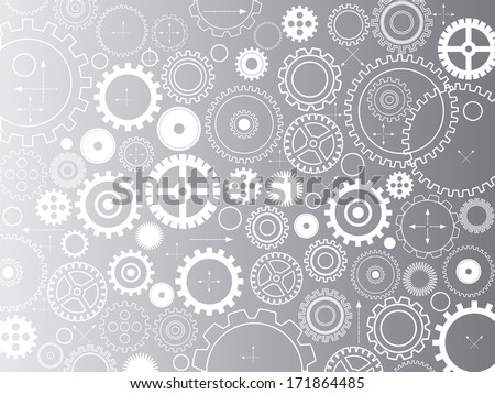 Background consisting of gears and arrows,vector