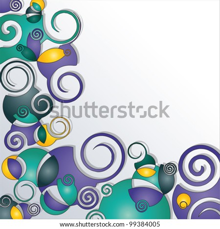 background decorated with spirals