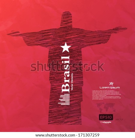 Background design, Brazil - stock vector