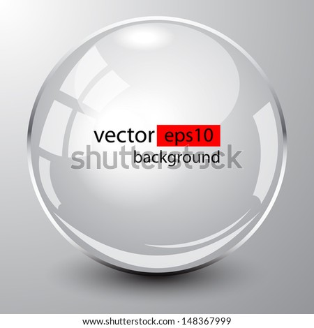 Background design, 3d white spheres on grey, vector - stock vector