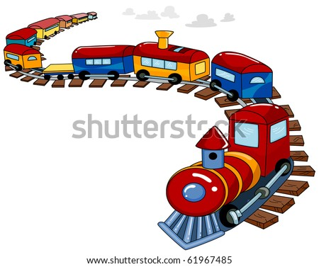 Background Design Featuring a Toy Train - Vector - stock vector