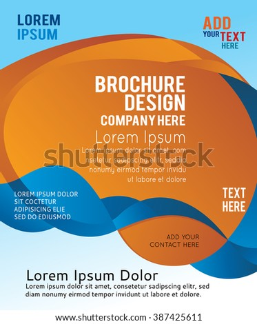 Background design for brochure or flyer, abstract vector illustration. Circle with wawes - stock vector