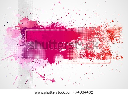 Background drawing by brush - stock vector