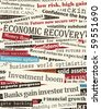Background editable vector design of newspaper headlines about economic recovery - stock vector