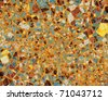 Background editable vector illustration of a colorful cracked grunge pattern - stock vector