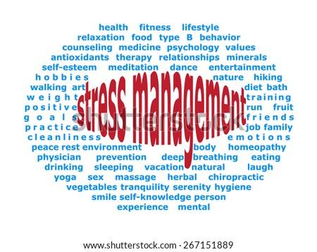Background elliptical illustration of stress management - stock vector