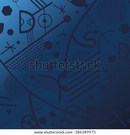 Background. Europe championship 2016. - stock vector