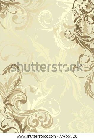 Background floral - stock vector