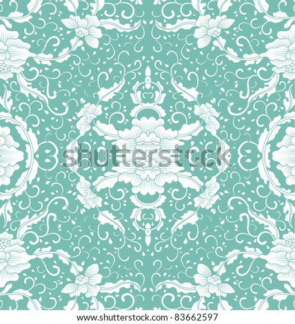 background floral vintage - stock vector
