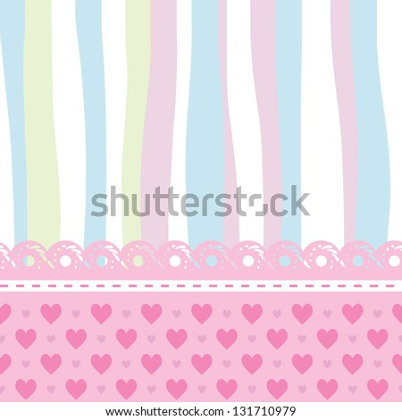 background for a baby card - stock vector