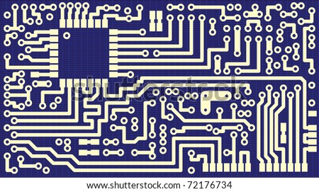 Background for business cards - the circuit board - vector illustration eps8 - stock vector