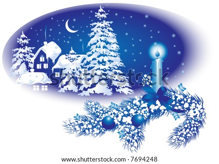 Background for Christmas card, vector illustration, EPS file included - stock vector
