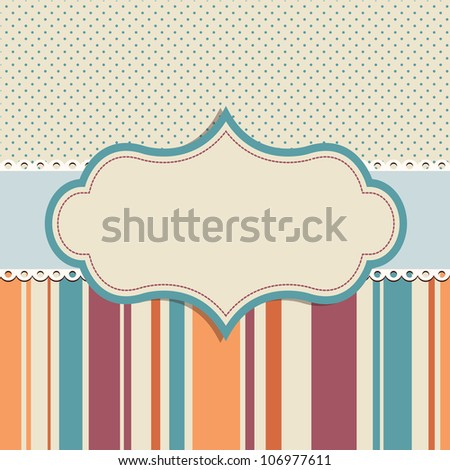 background for greeting card - stock vector