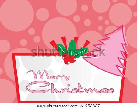 background for merry christmas celebration, vector illustration - stock vector