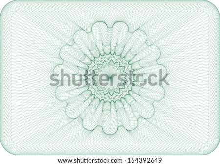 Background for money, voucher, currency. - stock vector