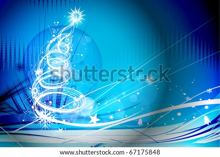 Background for new year and for Christmas, vector illustration - stock vector
