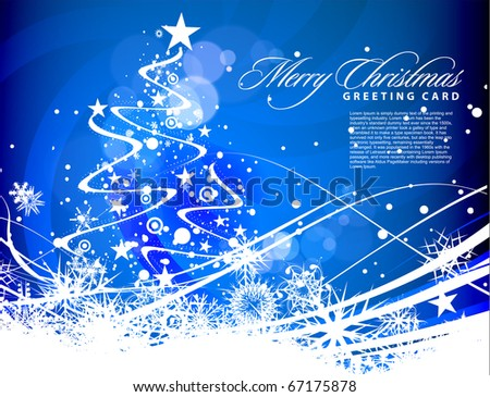 Background for new year and for Christmas, vector illustration