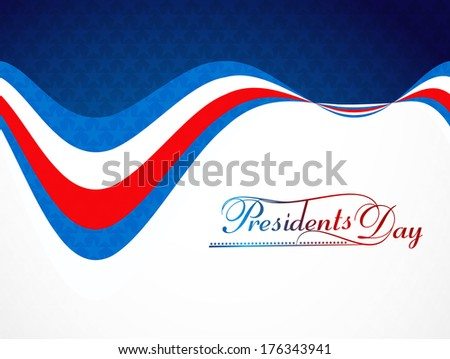 Background for President Day in United States of America with flag wave vector - stock vector