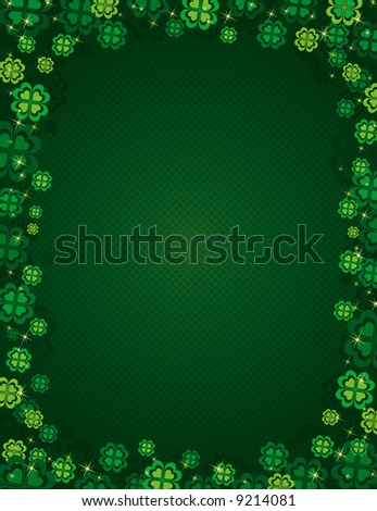 Background for St. Patrick's Day, vector illustration - stock vector