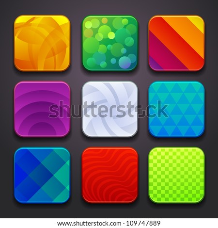 background for the app icons-part 6 - stock vector