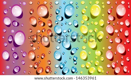 background for the app icons-water drop part - stock vector