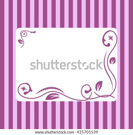 Background - frame with an abstract floral design in shades of purple.