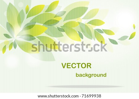 Background from  flying green leaves
