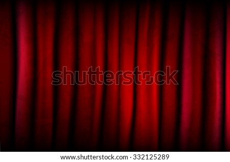 Background from red curtain with texture - vector illustration - stock vector