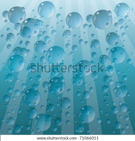 Background from the drops. Vector. - stock vector