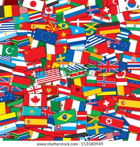 Background from Various World Flags . EPS10 Vector Design Template - stock vector
