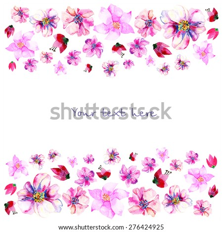 background from watercolor colorful flowers