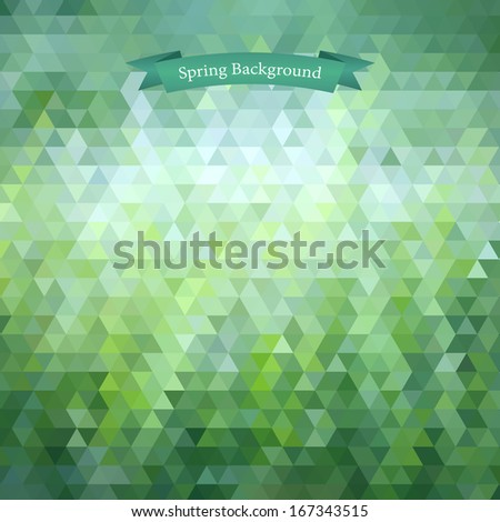 Background geometric pattern. Summer or spring theme. vector illustration - stock vector