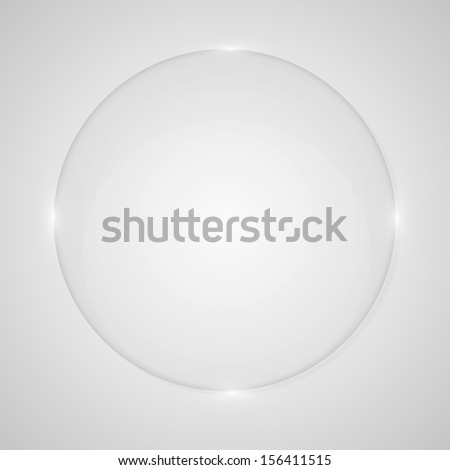 Background glass circle - stock vector