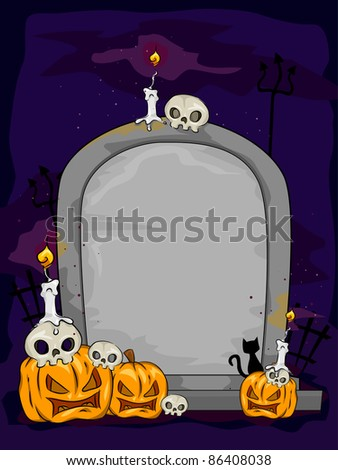 Background Illustration Featuring a Tombstone
