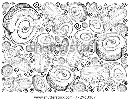 Background Illustration Hand Drawn Sketch Traditional Stock Vector ...