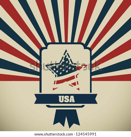 Background Illustration Patriot USA in vintage style, vector illustration - stock vector