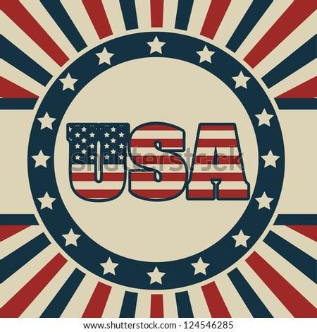 Background Illustration Patriot USA in vintage style, vector illustration - stock vector