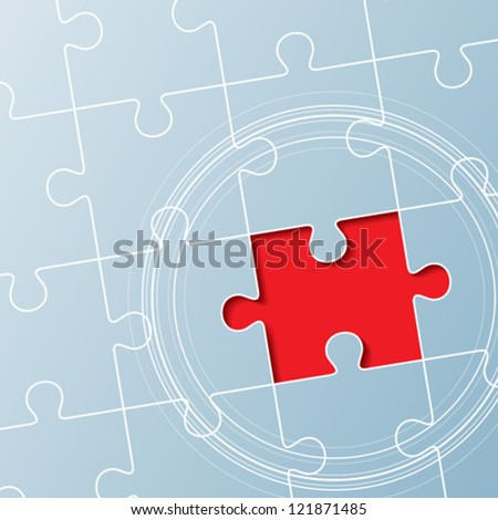 background made from puzzle pieces, leadership concept - stock vector