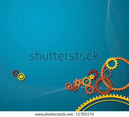 background made from various colorful cogwheels - stock vector