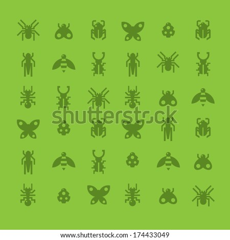 Background made of insects. A vector illustration - stock vector