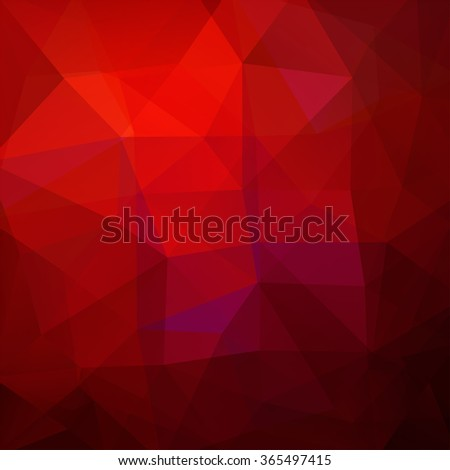Background made of triangles. Red color. Square composition with geometric shapes. Eps 10 - stock vector