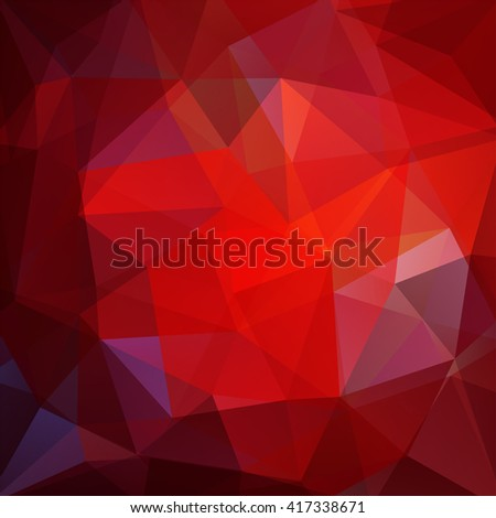 Background made of triangles. Square composition with geometric shapes. Eps 10 Dark red color.  - stock vector